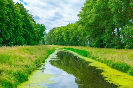Landscape view with Herring channel near Gdansk in Poland.