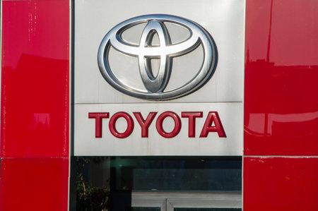Gdansk, Poland - December 2, 2017: Toyota logo.