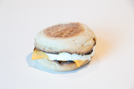 Warsaw, Poland - April 20, 2018: McDonald's McMuffin with egg and cheese.