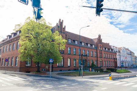 Olsztyn, Poland - May 1, 2018: Historical Post Office building in Olsztyn. Editorial