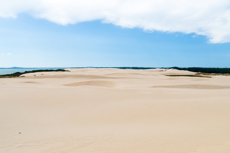 Landscape view of Slowinski National Park. Park with slowly move dunes.