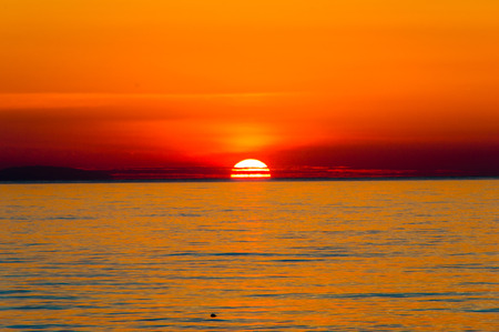Sunrise over the Mediterranean Sea.