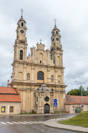 Vilnius, Lithuania - September 28, 2018: Church of the Ascension and Missionary monastery in Vilnius.