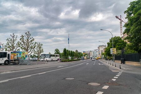 Luxembourg, Luxembourg - June 5, 2019: View of Boulevard Franklin Delano Roosevelt on a cloudy day.