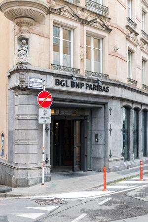 Luxembourg, Luxembourg - June 5, 2019: Entrance to BGL BNP Paribas. Redactioneel