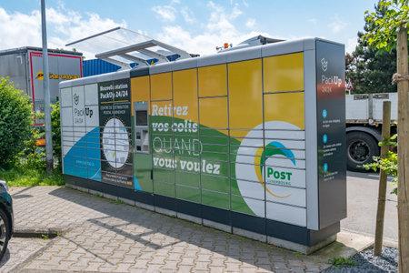 Luxembourg, Luxembourg - June 5, 2019: Post Luxembourg percel locker. Redactioneel