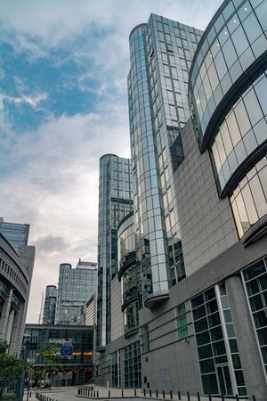 Brussels, Belgium - June 5, 2019: Altiero Spinelli building.