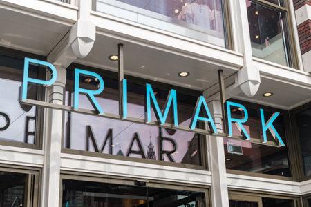 Amsterdam, Netherlands - June 7, 2019: Primark store sign.