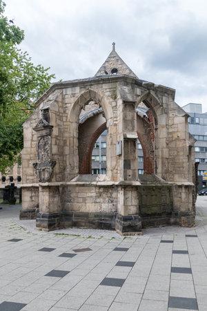 Hanover, Germany - June 8, 2019: St. Nicholas Chapel ruins.