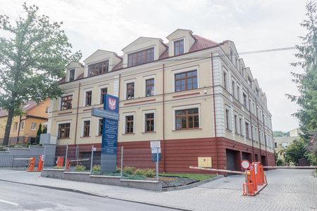 Wieliczka, Poland - July 27, 2019: Poviat Eldership in Wieliczka.