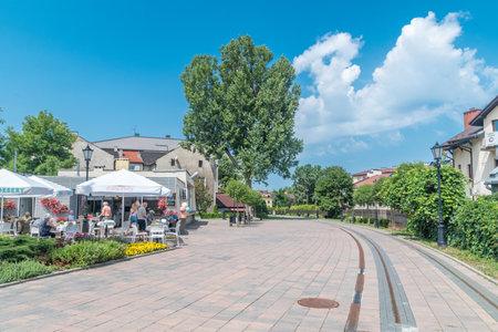 Wieliczka, Poland - July 27, 2019: View of salt road in Wieliczka.