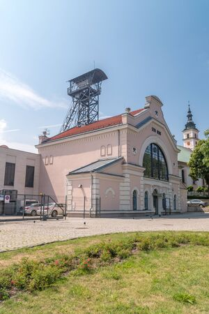 Wieliczka, Poland - July 27, 2019: Wieliczka Salt Mine - Regis Shaft. Publikacyjne