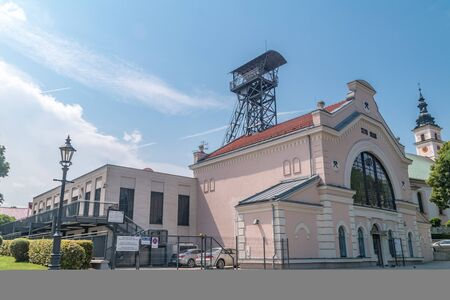 Wieliczka, Poland - July 27, 2019: Historical Salt Mine - Regis Shaft.