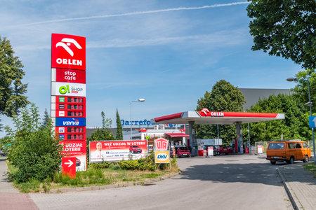 Oswiecim, Poland - July 28, 2019: Orlen gas station in Oswiecim. Redakční