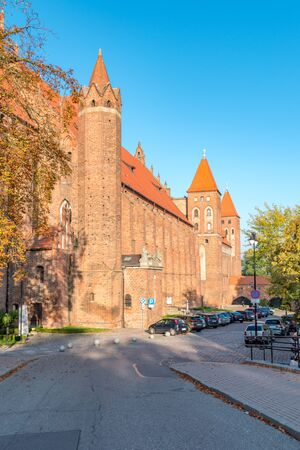 Kwidzyn, Poland - September 22, 2019: Large brick gothic castle in Kwidzyn.