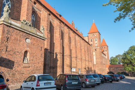 Kwidzyn, Poland - September 22, 2019: The Marienwerder Castle and Cathedral in Kwidzyn.