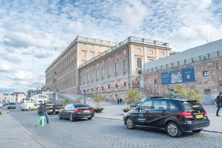 Stockholm, Sweden - September 24, 2019: The Royal Palace in Stockholm. Redakční