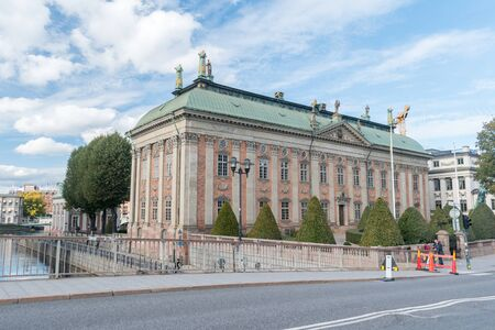 Stockholm, Sweden - September 24, 2019: The House of Nobility.