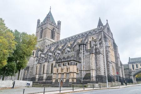 Dublin, Ireland - November 5, 2019: Cathedral Church of the Holy Trinity.