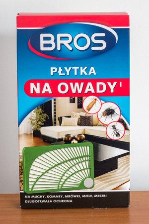 Pruszcz Gdanski, Poland - December 6, 2019: Bros insect strip. Редакционное