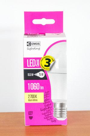 Pruszcz Gdanski, Poland - March 4, 2020: Emos Led classic light lamp. Standard-Bild - 142593234