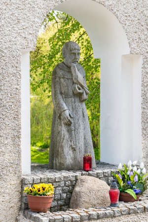 Straszyn, Poland - May 15, 2020: Statue of Saint Francis.