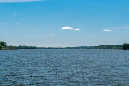 Summer view on Mikolajskie lake. Zdjęcie Seryjne