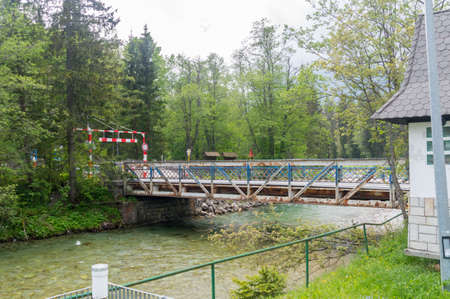 Border bridge between Poland and Slovakia in Lysa Polana. Stock Photo