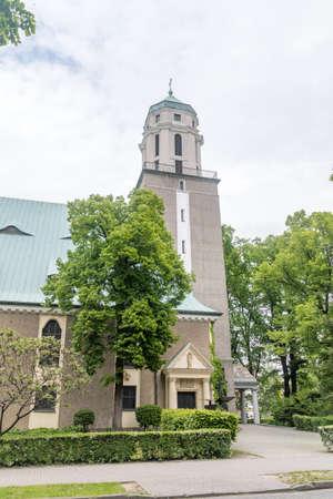 Salvator church (Polish: Kosciol pw. Najswietszej Zbawiciela) in Zielona Gora, Poland.