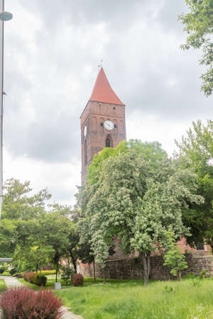 The belfry near the Church of Our Lady of Czestochowa in Lubin, Poland.