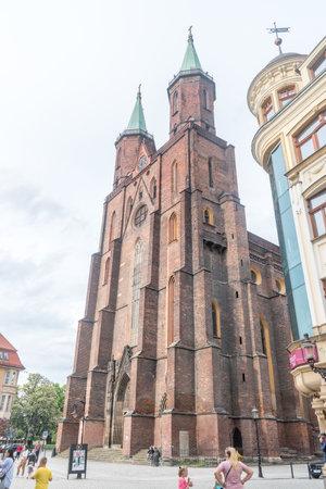 Legnica, Poland - June 1, 2021: Saint Mary Lutheran church.