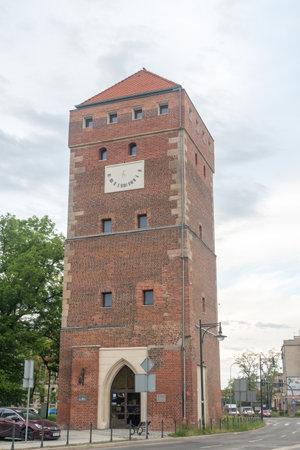 Legnica, Poland - June 1, 2021: Glogow Gate Tower. Editorial