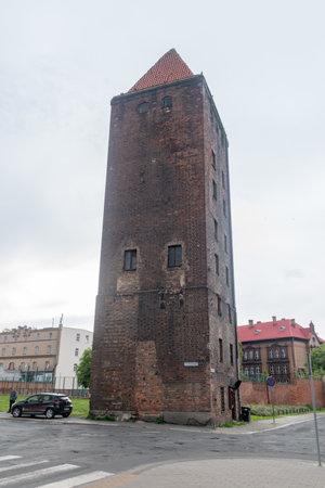 Legnica, Poland - June 1, 2021: Tower of the Chojnowska Gate.