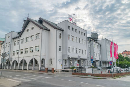 Legnica, Poland - June 1, 2021: Tauron Dystrybucja office building. Tauron Dystrybucja SA is a part of the largest Polish energetic holding Tauron Energia SA Editorial