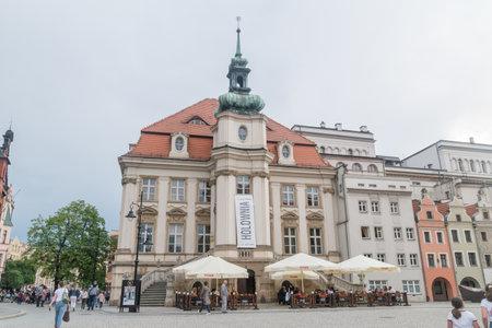Legnica, Poland - June 1, 2021: Old City Hall in Legnica.