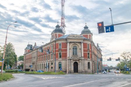 Legnica, Poland - June 1, 2021: Post office.