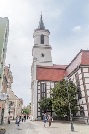 Zielona Gora, Poland - June 1, 2021: Our Lady of Czestochowa church (Polish: Kosciol Matka Boskiej Czestochowskiej).