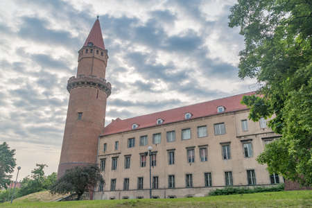 Legnica, Poland - June 1, 2021: Evening view of medieval Gothic Piast Castle (Zamek Piastowski). One of oldest castle in Poland. Editorial