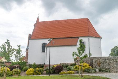 Lubin, Poland - June 1, 2021: Castle chapel in Lubin.