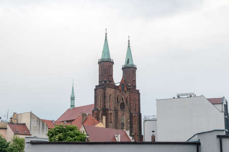 Roof of St. Mary's Church in Legnica, Poland.