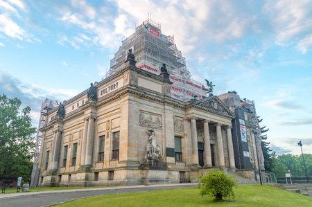 Zgorzelec, Poland - June 2, 2021: Municipal House of Culture in Zgorzelec. Editorial