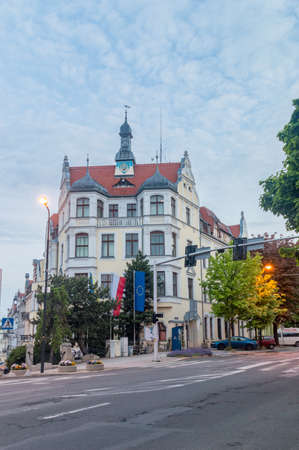 Zgorzelec, Poland - June 2, 2021: City Hall of Zgorzelec in the morning.