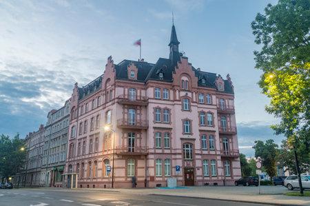 Zgorzelec, Poland - June 2, 2021: District court in Zgorzelec in the morning.