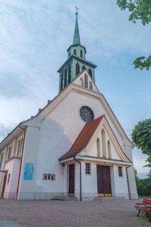 Zgorzelec, Poland - June 2, 2021: Roman Catholic Church of st. Boniface.