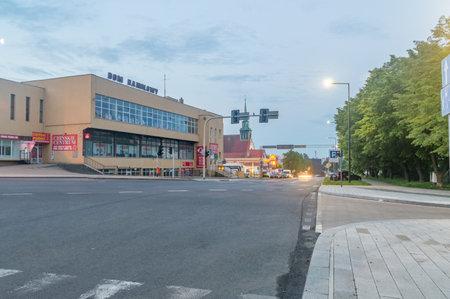 Zgorzelec, Poland - June 2, 2021: Emilia Plater street in the morning. Editorial