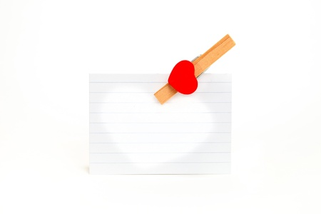 Valentines sheet with empty space for message. Stock Photo - 11930292