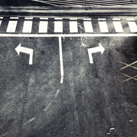 cruce de caminos: Elección cruce con paso de peatones.
