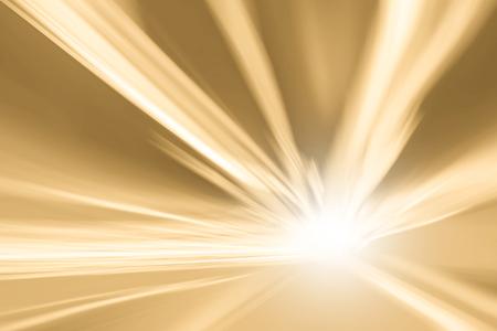 Tunnel oranje geel (Pantone eiken buff) kleur licht versnelling snelheid motion blur achtergrond. Motion blur visualizies de snelheid en dynamiek. Stockfoto - 45555269
