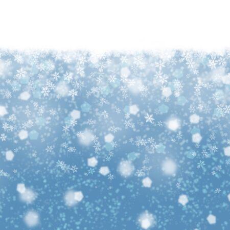 Borrosa suave nevada abstracto azul Ilustraci�n de Navidad de fondo.