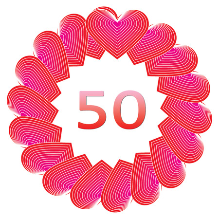 50 years: Anniversary happy birthday sign for 50 years illustration.